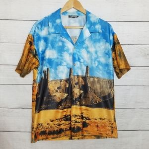 KRUSH   Vintage Short Sleeved Desert Canyo…